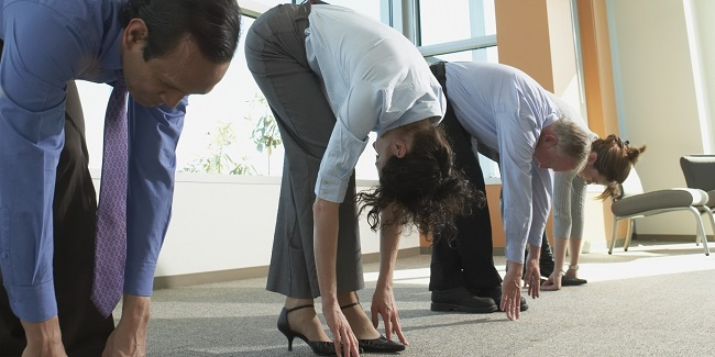 stretching your back at work