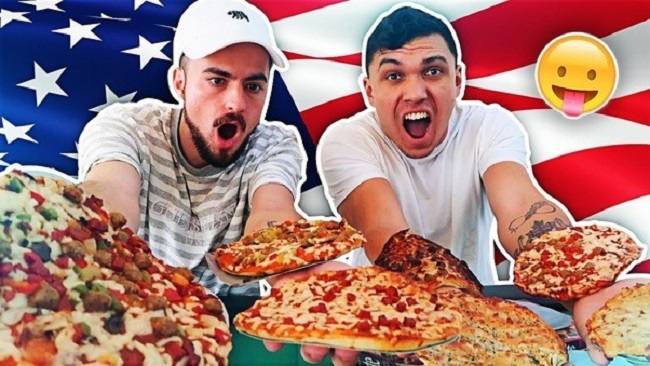 Americans eat a lot of Pizza