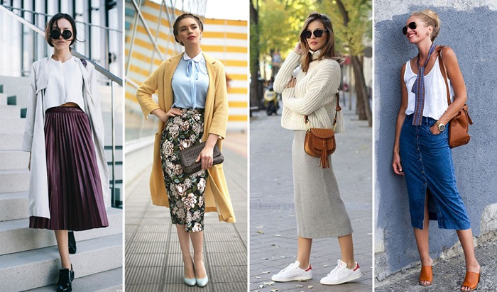 Midi skirts are the trickiest ones