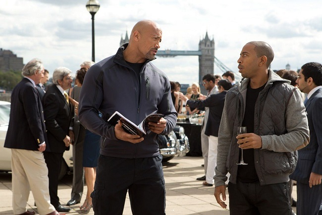 The rock on the sets fast and furious