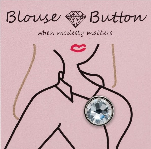 Buttons that can buckle a blouse