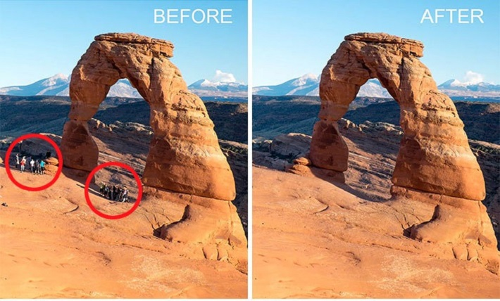 How to remove people from your photos