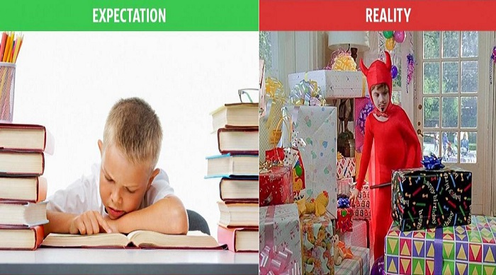 An ideal child expectation vs reality