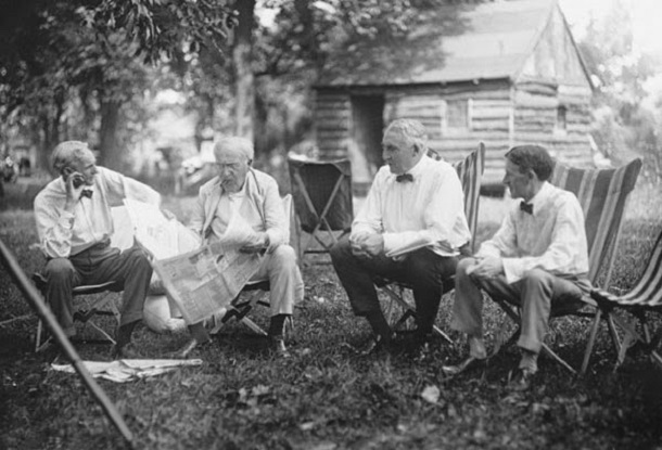 Four brilliant minds chilling out