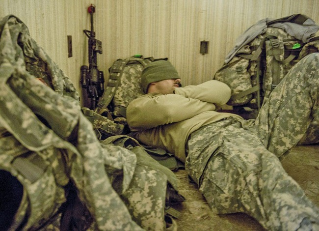 Sleeping technique devised by US Army veterans