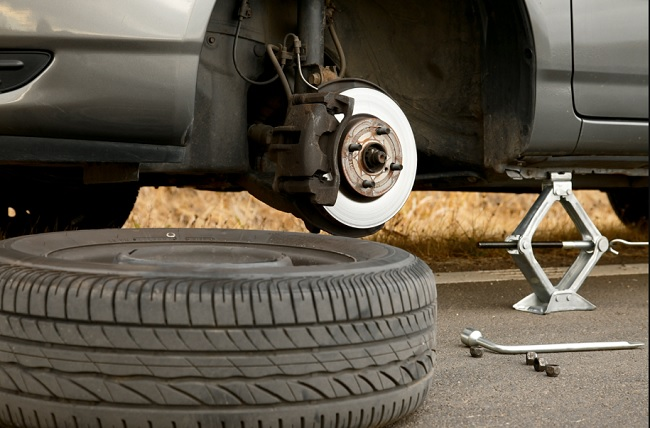 If you feel that you have flat tire