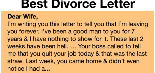 Man Writes Harsh Divorce Letter to Wife but It Blows Up In His Face Instead