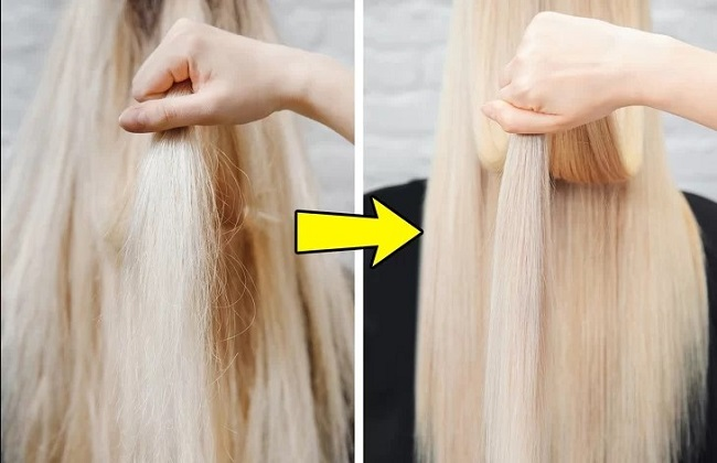 Your hair will become shiny