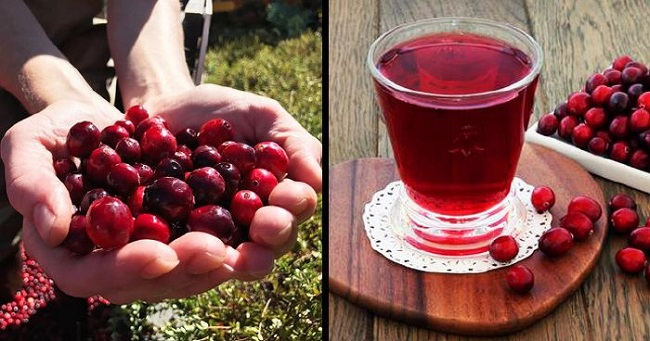 Cranberries to reduce water retention