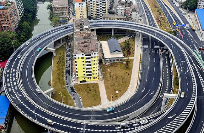 Houses and the ring roads