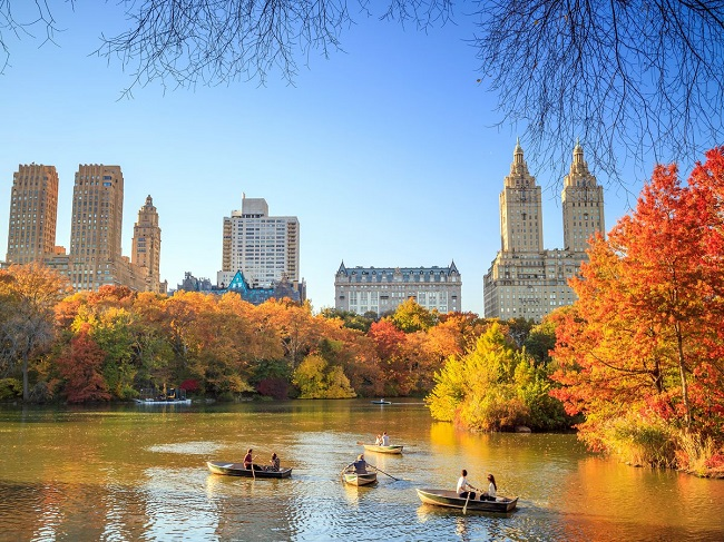 Boating in central park NYC