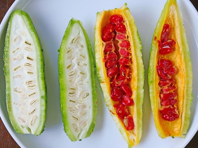 Avoid mature and ripened bitter melon