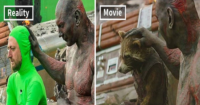 Popular Movie Scenes with and Without Special Effects