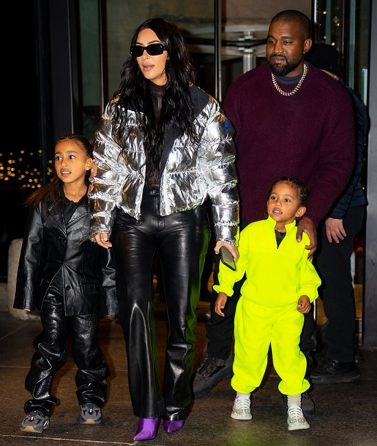 Kim and west with kids