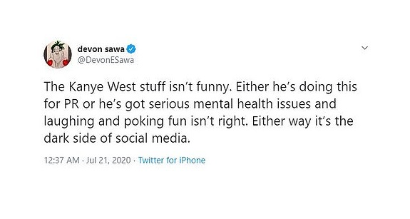 Tweets in favor of kanye west