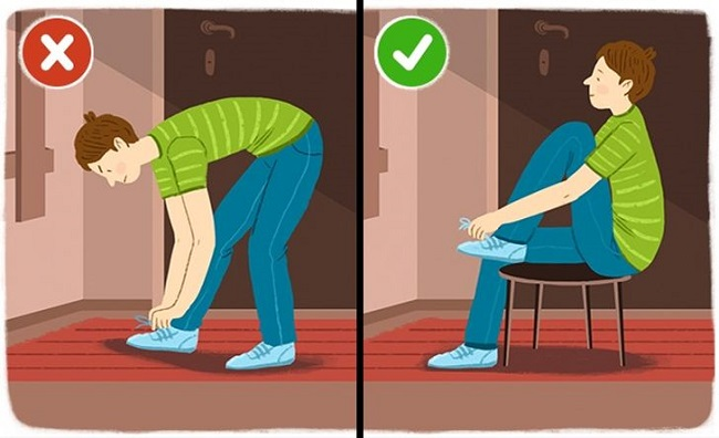 Tying your shoe laces