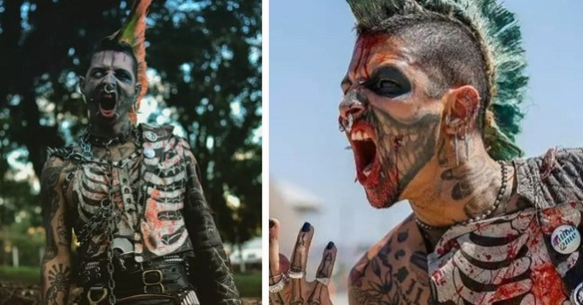 This Man Spent £11,000 on Body Modification To Look Like a Zombie