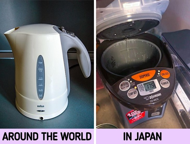 Japanese use water heaters instead of kettles