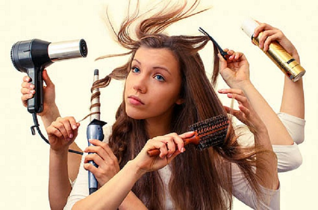 Excessive use of hair-styling products
