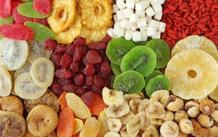 Dried fruits are full of sulfates