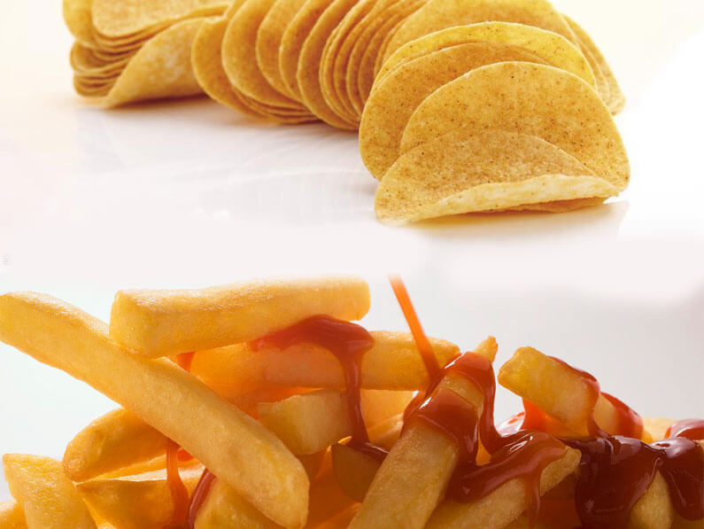 French fries and potato chips