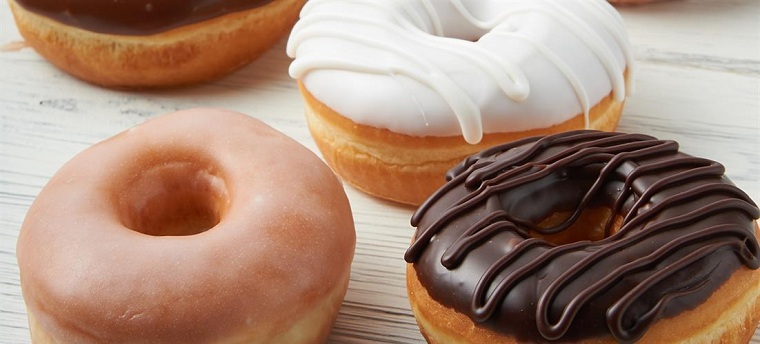 Sugary pastries and doughnuts