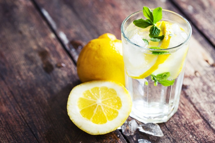 Drink a glass of lemon water in the morning