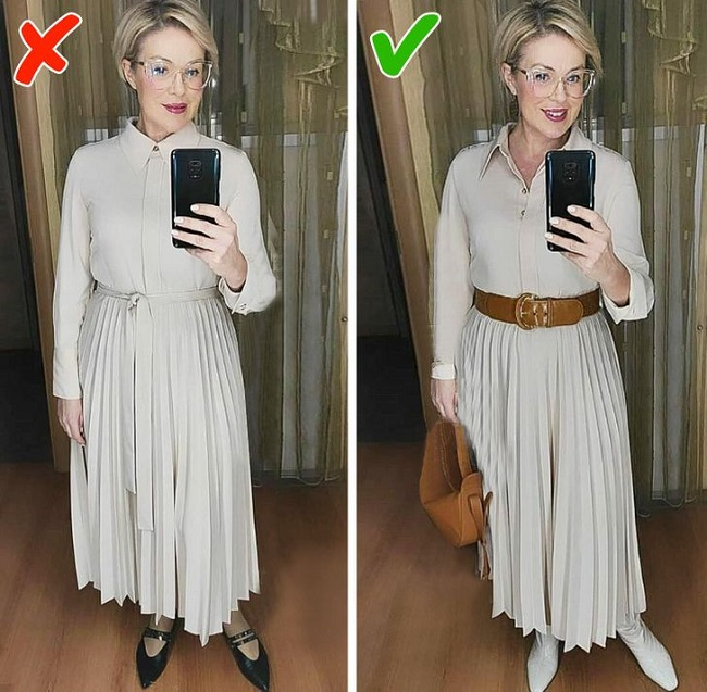 Dressing in a closed look