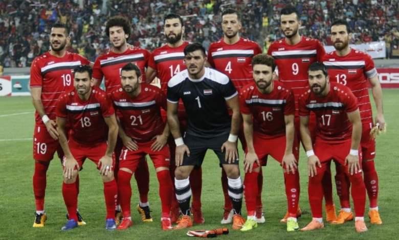 قائمة لاعبي منتخب سوريا المشاركين في تصفيات كأس آسيا في الصين 2023
