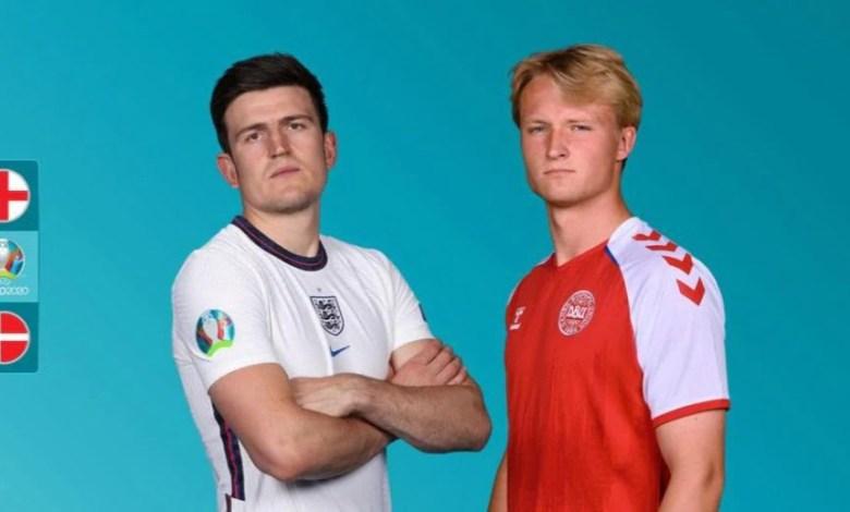 مباراة إنجلترا والدنمارك بث مباشر في نصف نهائي يورو 2020