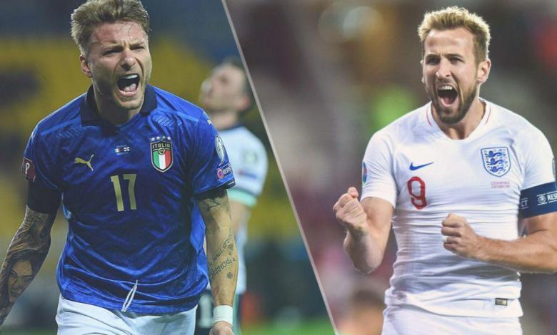 بث مباشر نهائي يورو 2020 .. مشاهدة مباراة ايطاليا وانجلترا متعدد الجودة