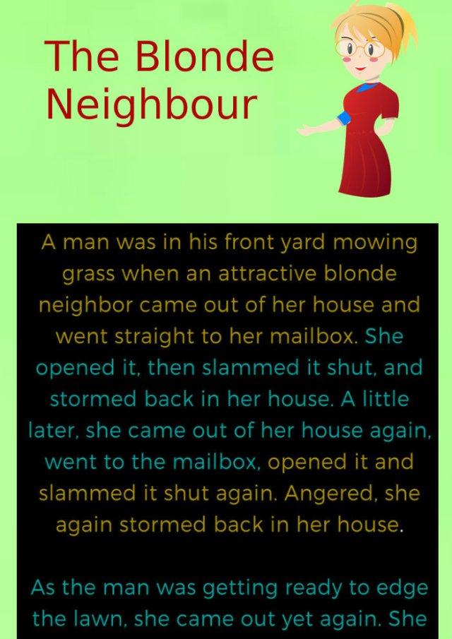 The Blonde Neighbor