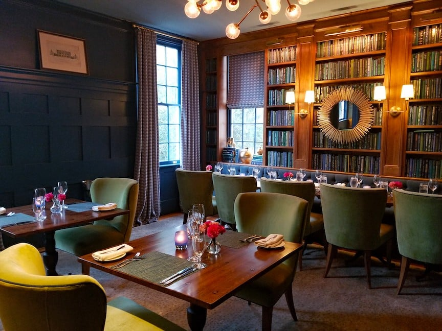 The Library at 1799 Restaurant, the Clifton Inn, Charlottesville Virginia