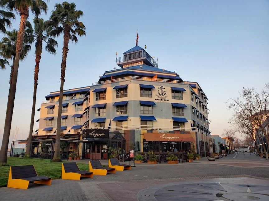 Exterior of Waterfront Hotel