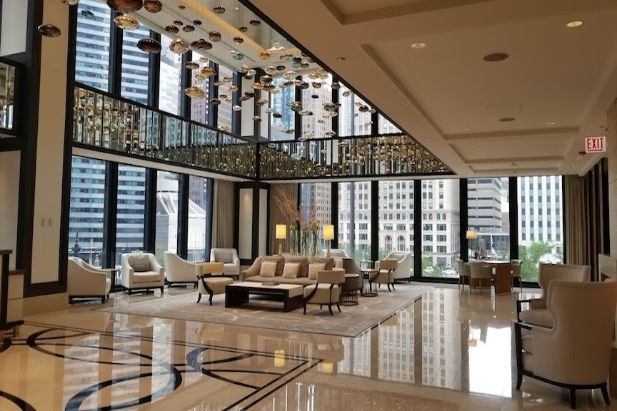 The Langham Chicago features one of the most beautiful hotel lobbies in America