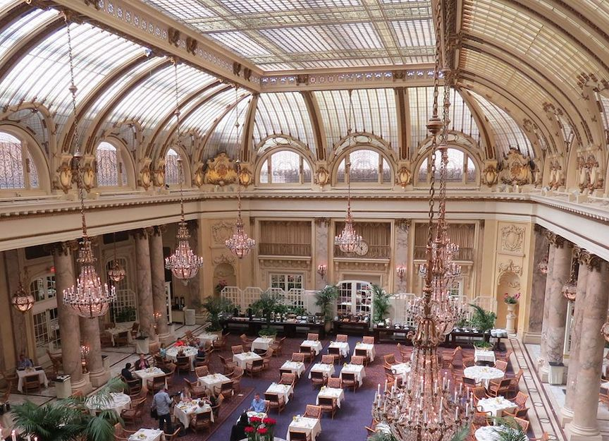 The stunning Garden Court area of the Palace Hotel San Francisco