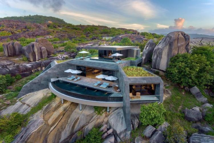 4-bedroom residence with two swimming pools at Six Senses Zil Pasyon in the Seychelles