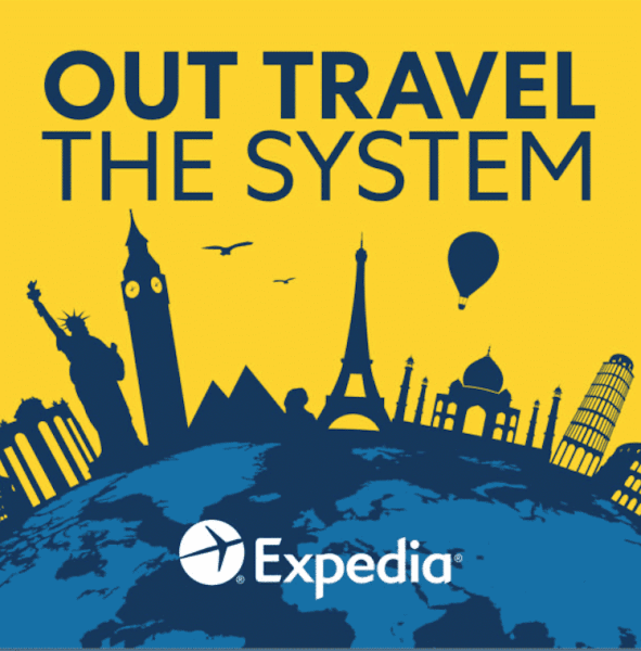 Graphic of Expedia's Out Travel the System