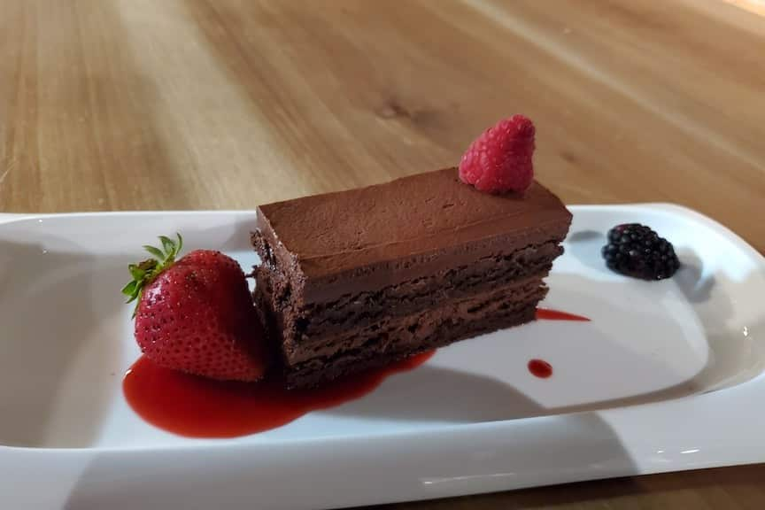 Chocolate Layer Cake at Table 301 Catering & Kitchen, Greenville, South Carolina