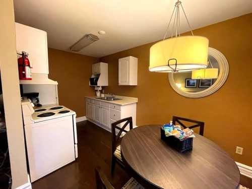 Full sized kitchens in 1 and 2 bedroom suites