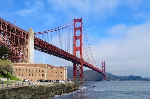 View of Golden Gate Bridge From Fort Point