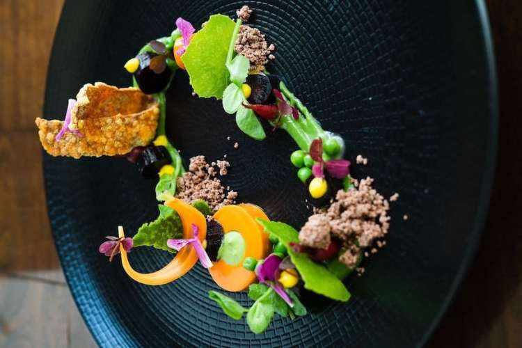 a Michelin starred dish by Troy Jorge of Temporis