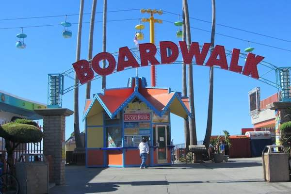 Boardwalk sign at the Santa Cruz Beach Boardwalk