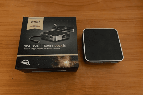 OWC USB-C Travel Dock E Out of the Box