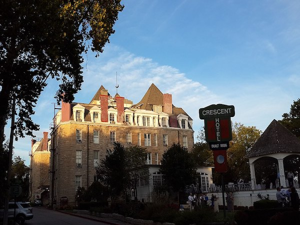 Crescent Hotel in the Ozark Mountains in Eureka Springs Arkansas with at least three rooms with reported supernatural activity