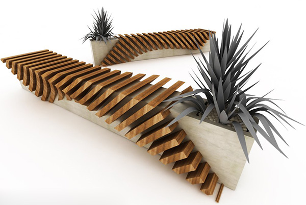 Urban Bench With A Planter By Juampi Sammartino