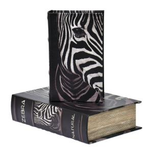 Bokförvaring Zebra 2 set Svart/Vit