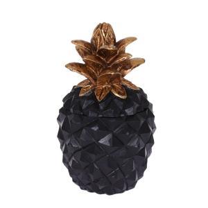 Dekoration Ananas Mässing/Svart