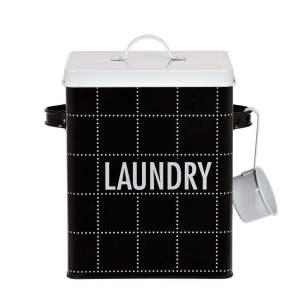 Förvaringsburk Laundry Svart