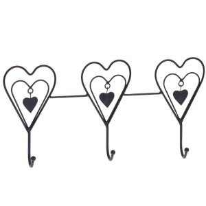Hjärta 3 st 3 st Svart